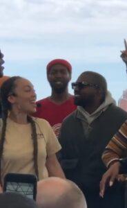 Anjolee and Kanye West